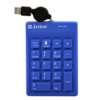 Jetion JT-KB8209 USB Numeric Flexible Keypad (Blue)