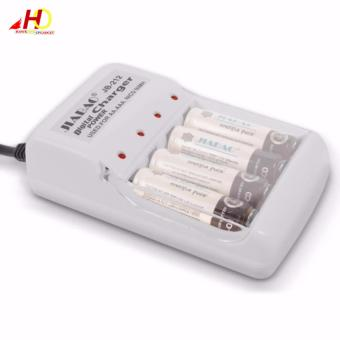 Jiabao JB212 Charger with 4 Pieces 600mAh AA Rechargable Battery - 4