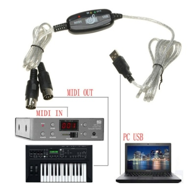 JinGle Details about MIDI to USB Cable Convert Adapter fr Music Keyboard Electronic Drum Music Create - intl