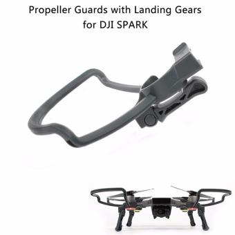 Joint Victory Propeller Guards Protectors with Foldable Landing Gear Leg Extenders 2 in 1 Combo for DJI Spark Drone