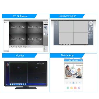 JOOAN JA-3104-EU 4CH Full D1 Real Time Recording CCTV DVR HDMI - Black - intl - 4