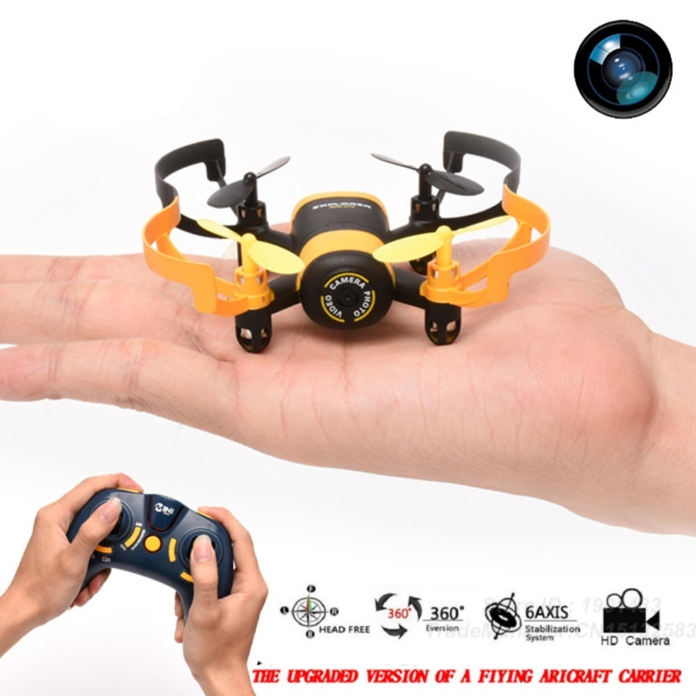 Jxd 512W Mini Ufo Wifi Phone Control Quadcopter (Black/Yellow) withFree Apple Original Earpod Headphones for Iphone (White)