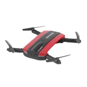JXD 523 Tracker Foldable WIFI FPV Rc Quadcopter HD Selfie Drone(Red)