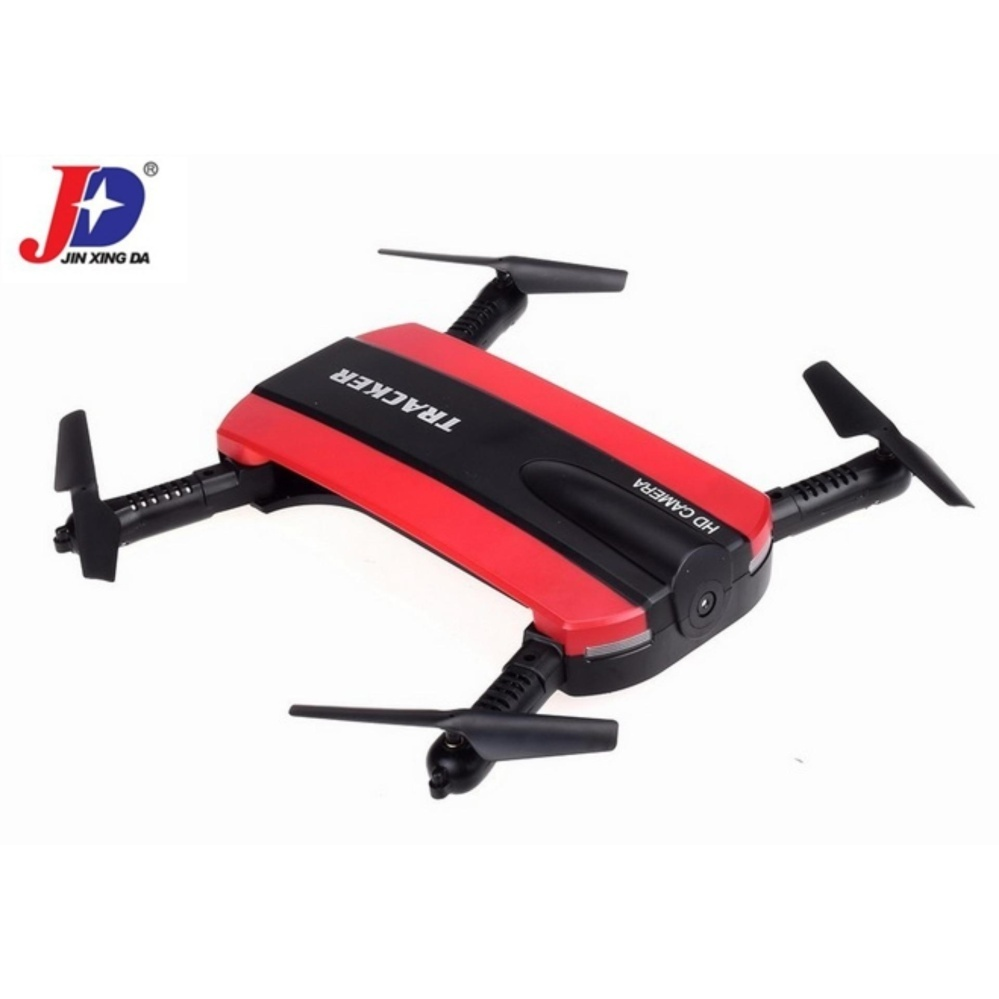 Jxd 523 Tracker Foldable Wifi Fpv Rc Quadcopter Hd Selfie Drone(Red) with Free Samsung 2A 1M Micro Usb Charger Charging Sync DataCable For Smart Phone