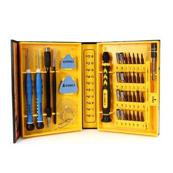 K-Tools 38 in 1 Precision Multifunction Repairing Screwdriver ToolKit (Yellow)
