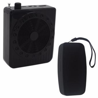 K150 Multi-Function SlingBand LoudSpeaker MegaPhone with Lapel Mic(Black) With N10 U