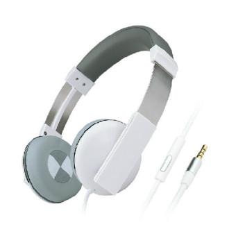 Kanen IP-2000 Retro Stereo Headphones with MIC for Smartphone Computer (Grey) (Intl)