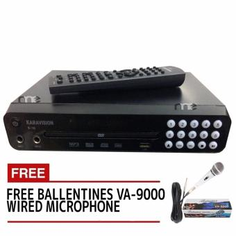 Karavision K-16 Kumpare DVD Karaoke Player Up to 14,000 Songs!(Black) With Free VA-9000 Wired Micrphone