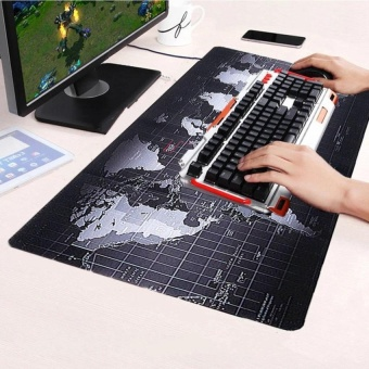 KCmall Large Size Non-Slip World Map Speed Game Mouse Pad Gaming Mat for Laptop PC 70cm x 30cm - intl