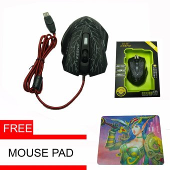 Kebao Wired Gaming Mouse with Free Mouse Pad