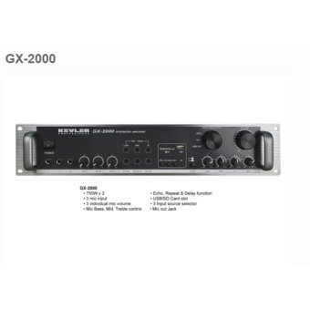 Kevler GX-2000 Intergrated High Power Amplifier 750W X 2 Max withUSB Price Philippines