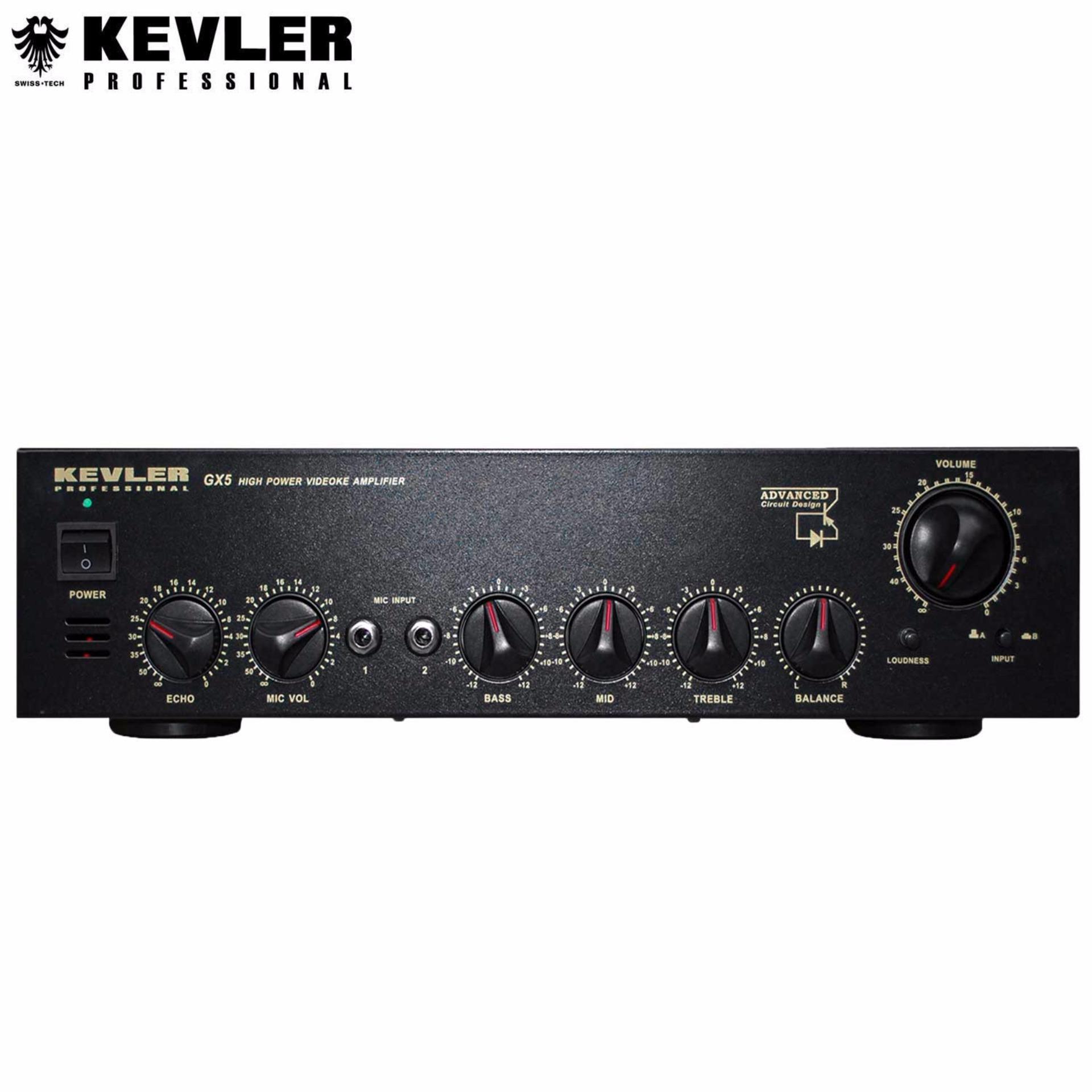 Kevler Professional Gx5 High Powered Amplifier 600w Black Audio