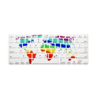 Keyboard protector 17 Inch for Apple Mac-book Air / Mac-book ProWorld Map