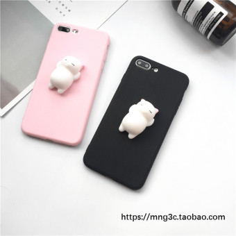 Keyi A33/a37/A53/A57/a59s relaxation three-dimensional cat phone case