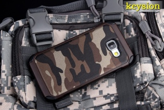 Keysion Fashion Case For Samsung Galaxy A9(2016) Plastic and TPUHard Cover for A9 Pro Camouflage Style Armor Protector A900 A910Shell - intl - 3