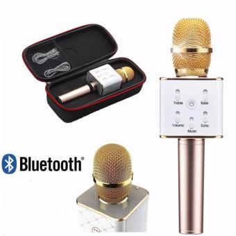 King's Handheld KTV Microphone Wireless Bluetooth Karaoke Singing Mic Speaker Player Q7