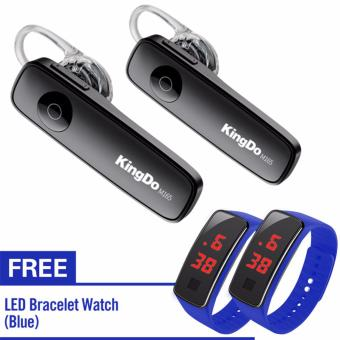 KingDo Brand M165 Bluetooth Earphone with Free LED Watch set of 2