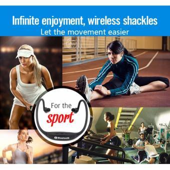 Kingdo E4 Sports Bluetooth Earphone Music Player MP3 Support TFCard - 3