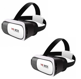KingDo VR Box Virtual Reality 3D Glasses (White) set of 2 Price Philippines