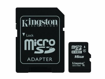 Kingston Micro SD Class 4 16GB Card microSDHC with SD Adapter forSmartphone & Camera