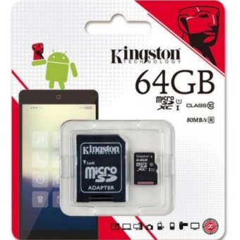 Kingston micro SDXC Memory Card UHS-I 64GB 80mb/s with SD Adapter Price Philippines