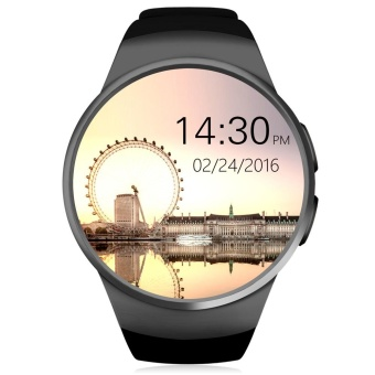 KingWear KW18 1.3 inch Round Dial Smartwatch Phone MTK2502 IPS Screen Pedometer Sedentary Reminder Bluetooth 4.0 Heart Rate Monitor - intl Price Philippines
