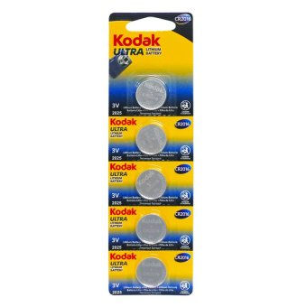 Kodak CR2016 Lithium Cell Button Battery 5 Pieces