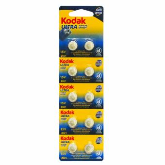 Kodak LR1130/AG10 Alkaline Cell Button Battery 10 Pieces
