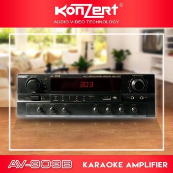 Konzert AV-303B 200W x 2 Multi Media Karaoke Amplifier with FM andUSB SD MP3 Player Price Philippines