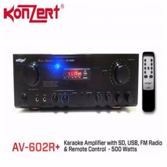 Konzert AV-602R+ w/ Bluetooth Multimedia Digital Karaoke Amplifier Price Philippines