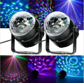 KTV Mini RGB LED Crystal laser Lantern Magic Radium Spotlight BallStage Effect Lighting Lamp Bulb Party Disco Night Club DJ LightShow Lumiere Stage Effect Lighting Lamp Party Disco Club DJ BarLight Show - intl