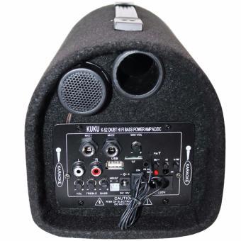 Kuku Portable 5inch Subwoofer Speaker with Karaoke mic-input andBluetooth (Black) - 3