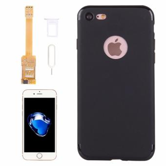 Kumishi For IPhone 7 2 In 1 Dual SIM Card Adapter + TPU Back CaseCover With SIM Card Tray / SIM Card Pin - intl Price Philippines