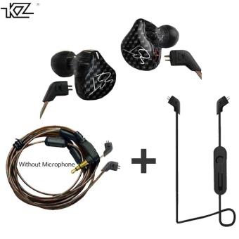 KZ ZST Hybrid Earphone +Bluetooth Wire+Dynamic Drive HI-FI Bass earphones for Sport music smart phones Black Color- intl - 4