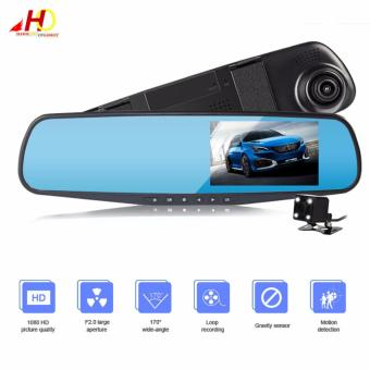 L502 4.0 inch Screen Display Dual Lens Vehicle Traveling Data Recorder Car Camera Rear-view Mirror Full HD 1080p