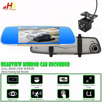 L99 7 inch HD Display Touch Screen Rearview Mirror Car RecorderDual Rear-View Mirror Vehicle Traveling Data Recorder