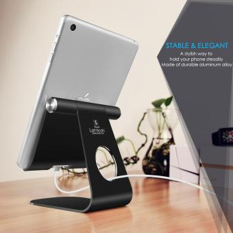Lamicall Phone desk table stand, Universal Accessories Desk stand holder for switch, all Android smartphone,ipad tablet Multi-Angle stand, i phone6 6s 7plus 5 5c 5s charging - 2