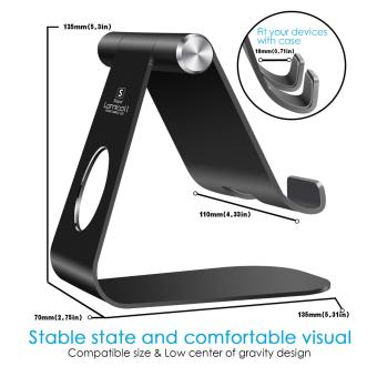 Lamicall Phone desk table stand, Universal Accessories Desk stand holder for switch, all Android smartphone,ipad tablet Multi-Angle stand, i phone6 6s 7plus 5 5c 5s charging - 3