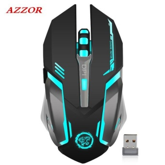 Lan-store High-quality Mouse--Azzor D9 Rechargeable Wireless Gaming Mouse 7-color Backlight Breath Comfort Gaming Mice for Computer Desktop Laptop NoteBook PC - intl