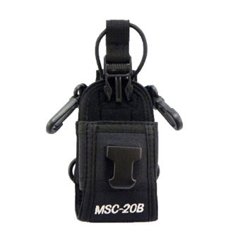 landor Pouch Bag Holster Case For GPS PMR446 Radio TransceiverWalkie Talkie(Black) - Intl