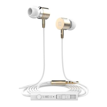 Langston I-7 In-Ear phone headphones bass Earphone with mic (Gold )