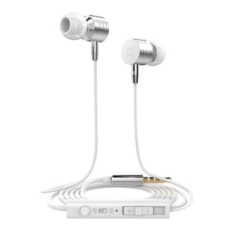 Langston I-7 In-Ear phone headphones bass Earphone with mic (White)
