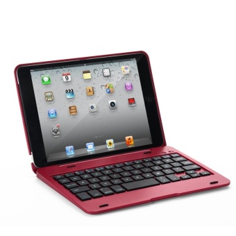 Laptop Style Bluetooth Keyboard Case for Apple iPad mini 1/2/3(Red)- intl