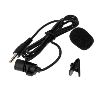 Lavalier Clip Metal Stereo Microphone 3.5mm with Collar Clip for Lound Speaker Computer PC Laptop (Black) (Intl)