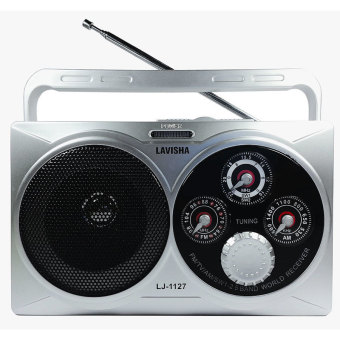 Lavisha LJ-1127 300W Portable AM/FM/TV/SW1-2 Radio (White)