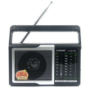 Lavisha LJ-941AR Palm Held Portable Rechargeable 300W AM/FM/SWRadio (Black)