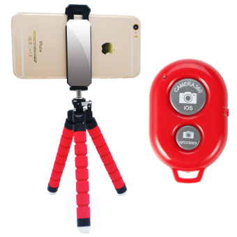 Lazy octopus live self-phone clip tripod support
