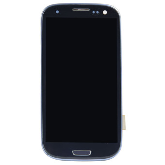 LCD Display Touch Digitizer Assembly Frame For Samsung GalaxyS3i9300 (Blue)
