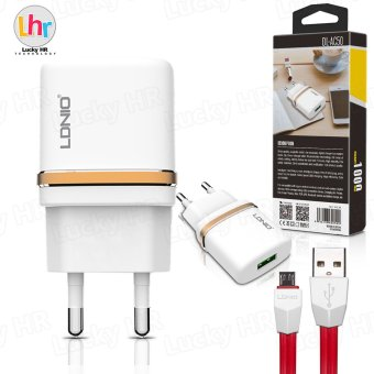 LDNIO DL-AC50 USB Home Mobile Phone Travel Charger with Cable for Android (White)