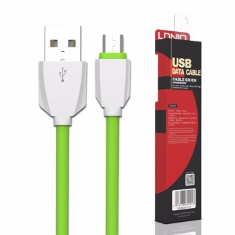 LDNIO LS07 1M Fast Charge Micro USB Cable for Android (White/Green)